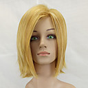 cheap Synthetic Wigs-Synthetic Wig Straight Bob Haircut Synthetic Hair Middle Part Blonde Wig Women's Medium Length Capless