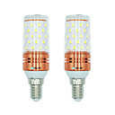 olcso LED kukorica alakú izzók-BRELONG® 2db 12 W 1000 lm E14 LED kukorica izzók T 60 led SMD 2835 Meleg fehér Fehér Dual Light Source Color AC 220-240V