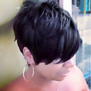 cheap Human Hair Capless Wigs-Human Hair Capless Wigs Human Hair Straight Side Part Short Machine Made Wig Women's