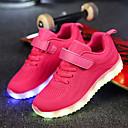 preiswerte Jungenschuhe-Jungen Schuhe Netz / Stoff Herbst Komfort / Leuchtende LED-Schuhe Sneakers Klettverschluss / LED für Dunkelblau / Grau / Rosa