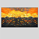 cheap Landscape Paintings-Oil Painting Hand Painted - Abstract Abstract Canvas