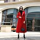 preiswerte Auto Pedale-Damen - Solide Retro Arbeit Mantel Wolle
