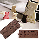 preiswerte Backformen-Silikonform der schönen Katzenkätzchen 7 Hohlraum für Fondantgummipaste-Schokoladenplätzchen-Kuchenwerkzeuge