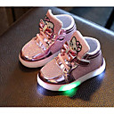 cheap Birthday Home Decorations-Girls' Shoes PU Fall Winter Comfort Sneakers for Casual Gold Silver Fuchsia Pink