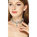 cheap Necklaces-Women's Crystal Choker Necklace - Silver Necklace Jewelry For Wedding, Party