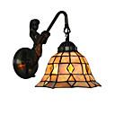 olcso LED sávos fények-átmérő 20cm retro hableány tiffany fali lámpák burkolat árnyékában nappali hálószoba lámpatest