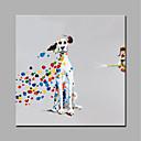 olcso Állatos festmények-Hang festett olajfestmény Kézzel festett - Állatok Modern stílus Vászon