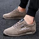 זול נעלי ספורט לגברים-בגדי ריקוד גברים PU אביב / סתיו נוחות נעלי אתלטיקה הליכה אפור / שקד / חאקי