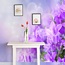 baratos Papel de Parede-Padrão 3D Flor Decoração para casa Rústico Revestimento de paredes, Tela de pintura Material adesivo necessário Mural, Cobertura para