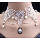 cheap Necklaces-Women's Synthetic Diamond Choker Necklace - Imitation Pearl, Lace Classic, Cute White Necklace For Wedding, Party