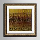 abordables Cuadros Enmarcados-Lienzo enmarcado Conjunto enmarcado Abstracto Botánico Arte de la pared, PVC Material con Marco Decoración hogareña marco del art Sala de