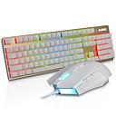 abordables Juegos de Teclado y Ratón-AJAZZ SWZ Con Cable Combo de teclado de mouse Retroiluminado Programable