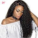 olcso Emberi hajból készült parókák-Emberi haj Csipke eleje Paróka Göndör szövés Paróka Tincselve 250% Haj denzitás Női Közepes Emberi hajból készült parókák SunnyQueen