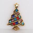 tanie Modne broszki-Broszki - Kryształ górski Drzewo życia Prosty, Słodkie Broszka Złoty Na Święta Bożego Narodzenia