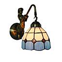 preiswerte Wandleuchten-Durchmesser 15 cm Retro Land Meerjungfrau Tiffany Wandleuchten Glas Schatten Wohnzimmer Schlafzimmer Leuchte