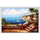 cheap Landscape Paintings-Oil Painting Hand Painted - Landscape Comtemporary Canvas