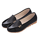 cheap Women's Flats-Women's Shoes Nappa Leather Spring / Summer Moccasin Flats Black / Green / Pink