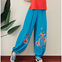cheap Smartwatch Accessories-Women's Classic & Timeless Loose Wide Leg Pants - Solid Color Embroidered Artistic Style Classic Style