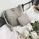 preiswerte Taschensets-Damen Taschen PU Bag Set Nierenwärmer / Bänder Dunkelgray / Braun / Hellgrau