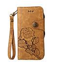 baratos Capinhas para Celular & Protetores de Tela-Capinha Para Nokia Lumia 630 Nokia Lumia 640 Nokia Porta-Cartão Carteira Com Suporte Flip Estampada Capa Proteção Completa Flor Rígida PU