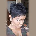 baratos Perucas de Cabelo Humano Sem Touca-Perucas de cabelo capless do cabelo humano Cabelo Humano Liso Curto Fabrico à Máquina Peruca Mulheres