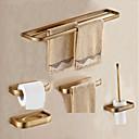 billiga Badrumsinredning-Badrumstillbehörsset Antik Metall 5pcs - Hotellbad Toalettpappershållare / torn bar / Tvålkopp Väggmonterad