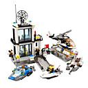 baratos Blocos de Montar-Blocos de Construir 536 pcs Arquitetura Policial Delegacia de polícia Clássico Para Meninos Para Meninas Brinquedos Dom