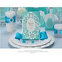 baratos Convites de Casamento-Dobrados Convites de casamento Cartões de convite Convites para Festas de Noivado Estilo Artístico Estilo Moderno Papel com Relevo