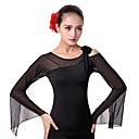 cheap Ballroom Dance Wear-Ballroom Dance Tops Women's Performance Ice Silk Flower Long Sleeves Top