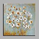 hesapli Çiçek/Botanik Resimleri-Hang-Boyalı Yağlıboya Resim El-Boyalı - Çiçek / Botanik Modern Iç çerçeve olmadan / Haddelenmiş tuval