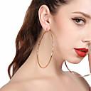 ieftine Cercei la Modă-Pentru femei Cercei Picătură / Cercei Rotunzi - Supradimensionat Auriu / Argintiu Pentru Petrecere / Stradă