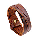 cheap Men's Bracelets-Men's Leather Bracelet - Statement, Rock, Hip-Hop Bracelet Black / Brown For Daily Casual