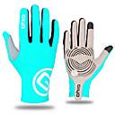 זול בדמינגטון-WEST BIKING® כפפות ספורט/ פעילות כפפות רכיבה / כפפות מגע עמיד / נושם / קיר כפול על כל האצבע לייקרה / סיבים איכותיים מאוד רכיבה בכביש / ספורט רב פעילותי / רכיבה על אופניים / אופנייים
