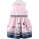 cheap Blackout Curtains-Girl's Daily Going out Holiday Dress, Cotton Spring Summer Sleeveless Cartoon Blushing Pink