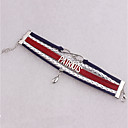 tanie Modne broszki-Męskie / Damskie Bransoletki Wrap - Skórzany Leaf Shape, Nieskończoność Koreański Bransoletki Srebrny Na Codzienny