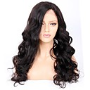 cheap Human Hair Wigs-Remy Human Hair Glueless Lace Front / Lace Front Wig Brazilian Hair Wavy Wig 130% / 150% / 180% African American Wig Women's Short / Long Human Hair Lace Wig