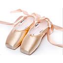billige LED-lyspærer-Dame Ballettsko Sateng Flate / Hel såle Flat hæl Kan ikke spesialtilpasses Dansesko Mandel / Innendørs / Ytelse / Trening