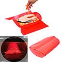 abordables Utensilios de cocina-caja de vapor de silicona pescado vaporizador cocina aparato horno microondas