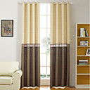 cheap Curtains Drapes-Rod Pocket Grommet Top Tab Top Double Pleat Curtain Formal Casual Modern, Jacquard Floral Bedroom Polyester Blend Material Curtains Drapes