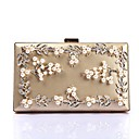 cheap Clutches & Evening Bags-Women's Bags Polyester Evening Bag Crystals / Pearls / Flower Black / Red / Blushing Pink