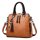 cheap Backpacks-Women's Bags PU(Polyurethane) Tote 4 Pieces Purse Set Zipper Geometric Light Gray / Army Green / Wine