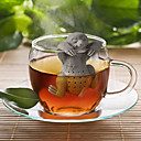 olcso Kávé és tea-fa vidra szilikon tea infuser növényi tengeralattjáró laza levél szűrő szűrő diffúzor