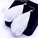 cheap Earrings-Women's Drop Earrings - Leaf, Feather Bohemian, Boho, Oversized White / Blue / Pink For Daily Street