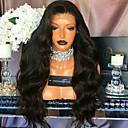 olcso Emberi hajból készült parókák-Emberi haj 360 Frontális Paróka Brazil haj Hullámos haj Paróka 180% Természetes hajszálvonal Női Rövid / Közepes / Hosszú Emberi hajból készült parókák