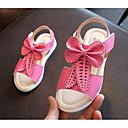 levne Dívčí obuv-Dívčí Boty Syntetické mikrovlákno PU Jaro / Léto Pohodlné Sandály Chůze Mašle pro Žlutá / Broskvová / Růžová