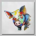 halpa Eläinmaalaukset-Hang-Painted öljymaalaus Maalattu - Eläimet Eläimet Yksinkertainen Moderni Kangas