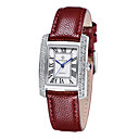 cheap Foundations-Women's Wrist Watch Quartz Genuine Leather Analog Ladies Casual Fashion Elegant - White / Silver Silver / Red Gold / Red