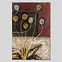 olcso Virág festmények-Hang festett olajfestmény Kézzel festett - Virágos / Botanikus Modern Vászon