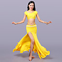 cheap Belly Dance Wear-Belly Dance Outfits Women's Training Milk Fiber Sleeveless Dropped Skirts Top