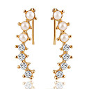 cheap Earrings-Women's Crystal Stud Earrings - Zircon Sweet, Elegant Gold For Wedding / Valentine